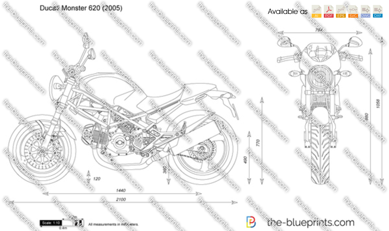 Ducati monster 620 vector drawing for Where to get blueprints