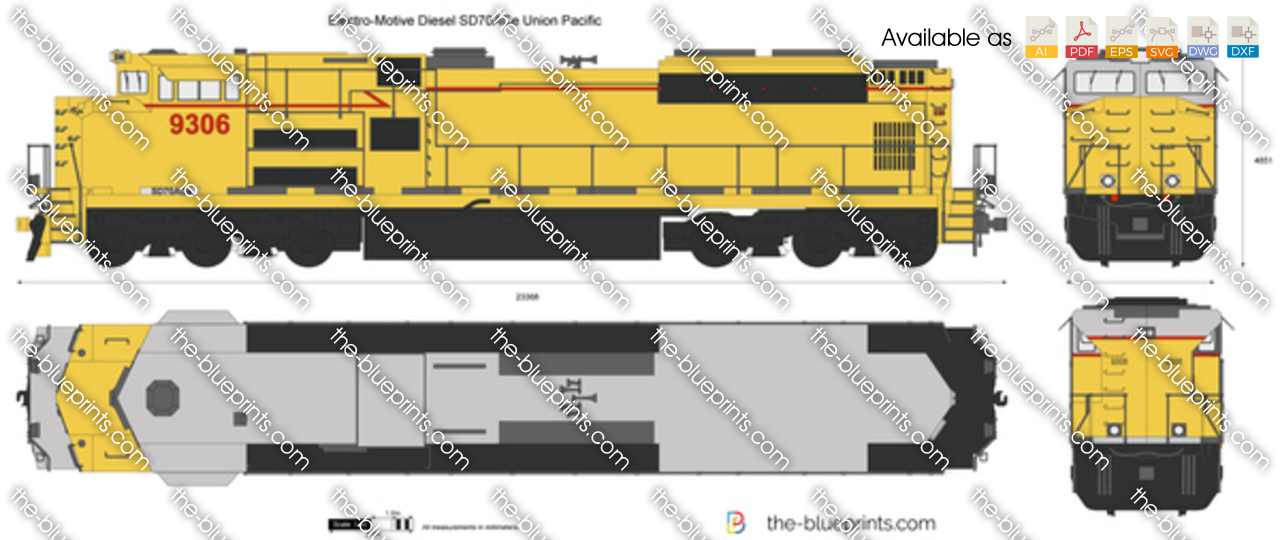 Electro-Motive Diesel SD70ACe Union Pacific