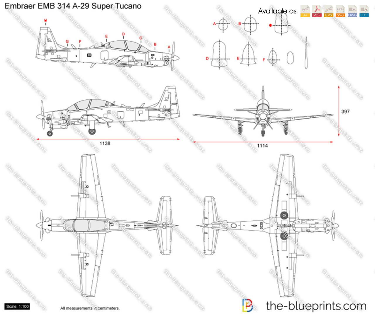 Embraer EMB 314 A-29 Super Tucano