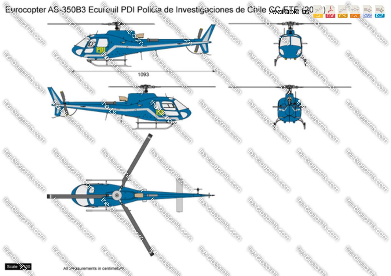 Eurocopter AS350B3 Ecureuil PDI Policia de Investigaciones de Chile CC ETE