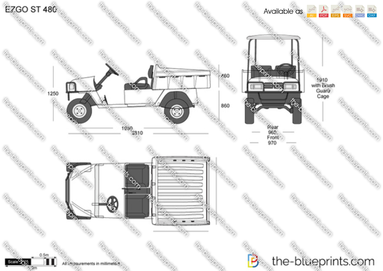 Ezgo St480 Workhorse Gas Wiring Diagram Vector Drawing 1280x905