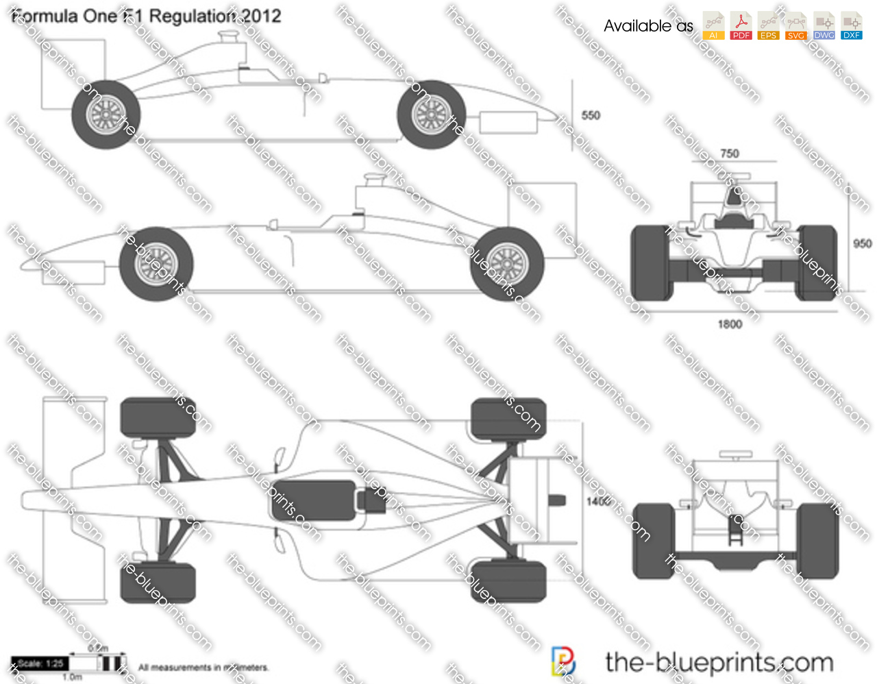 F1 Formula 1 2012 Vector Drawing