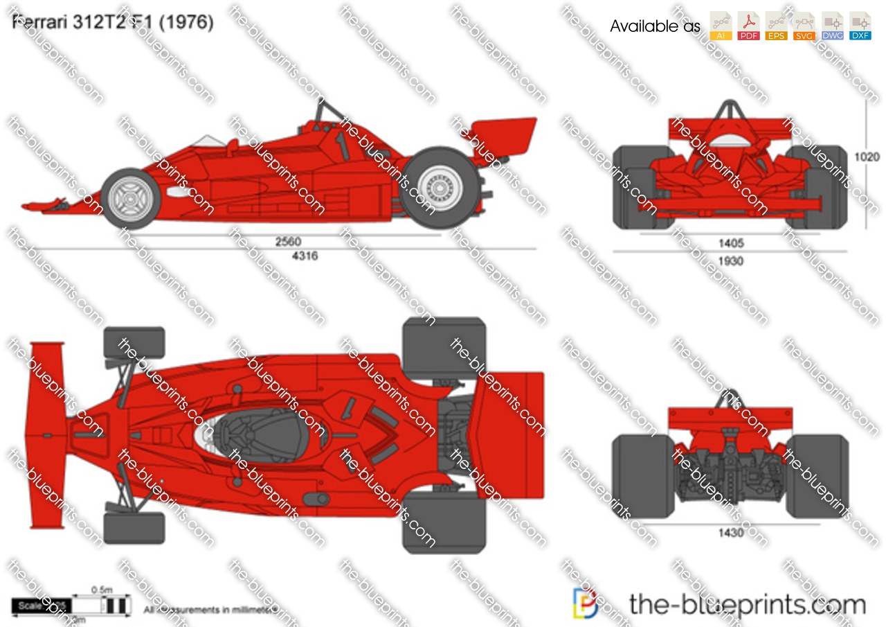 The Blueprints Com Vector Drawing Ferrari 312t2 F1