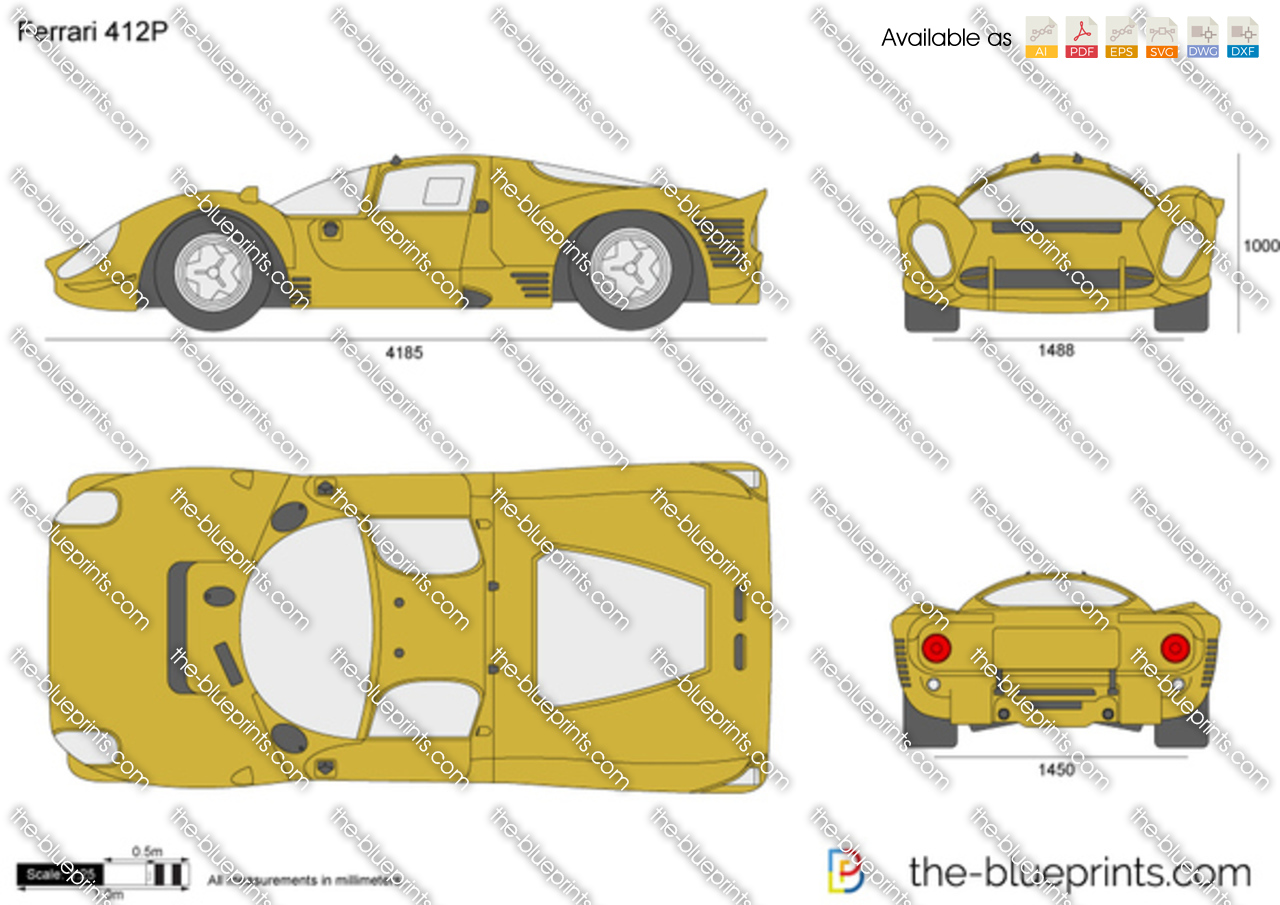 the blueprints com vector drawing ferrari 412p