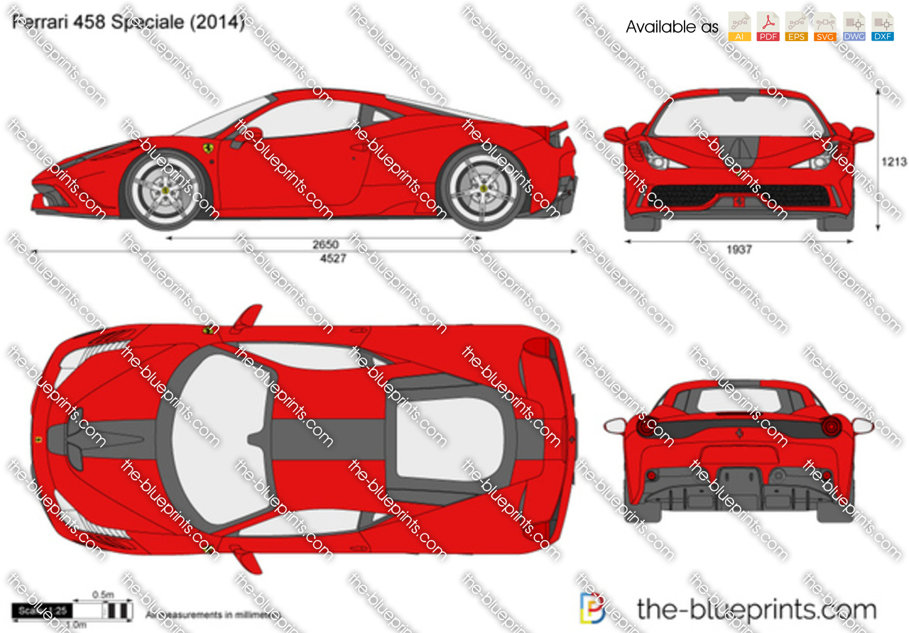 The Blueprints Com Vector Drawing Ferrari 458 Speciale