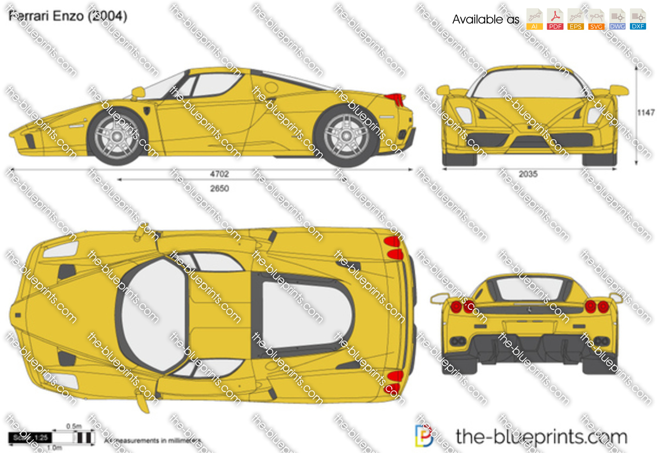 Ferrari Enzo Vector Drawing
