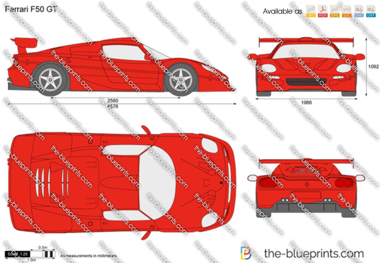 Alfa img showing gt ferrari f50 blueprints