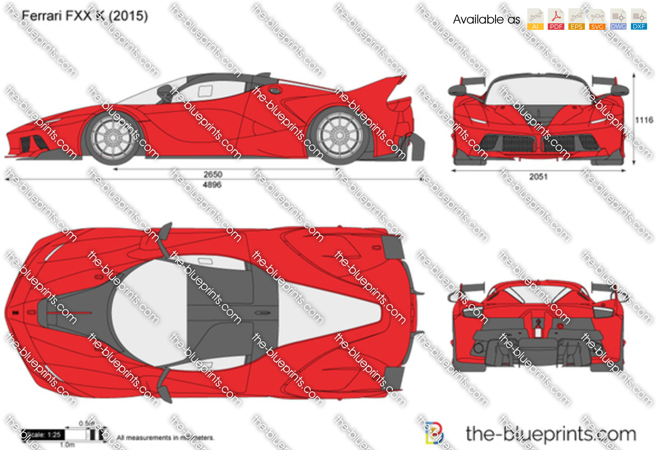 Ferrari Fxx K Vector Drawing