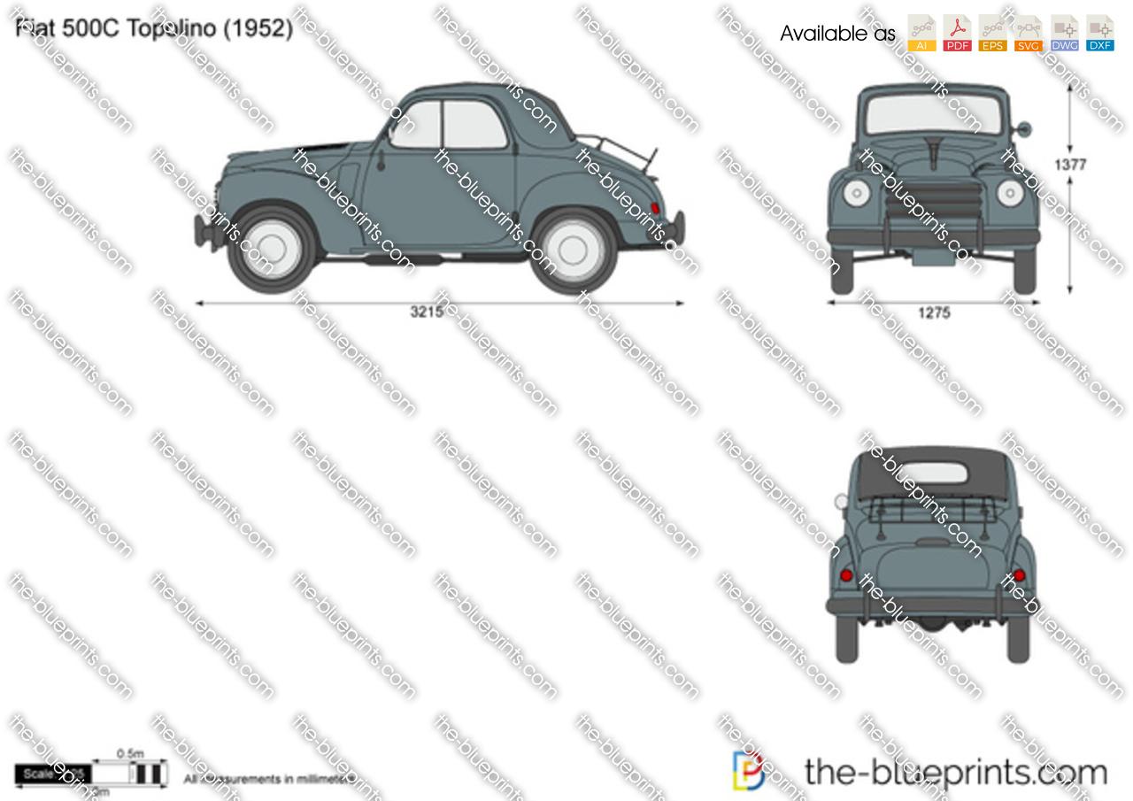 Fiat 500C Topolino 1954