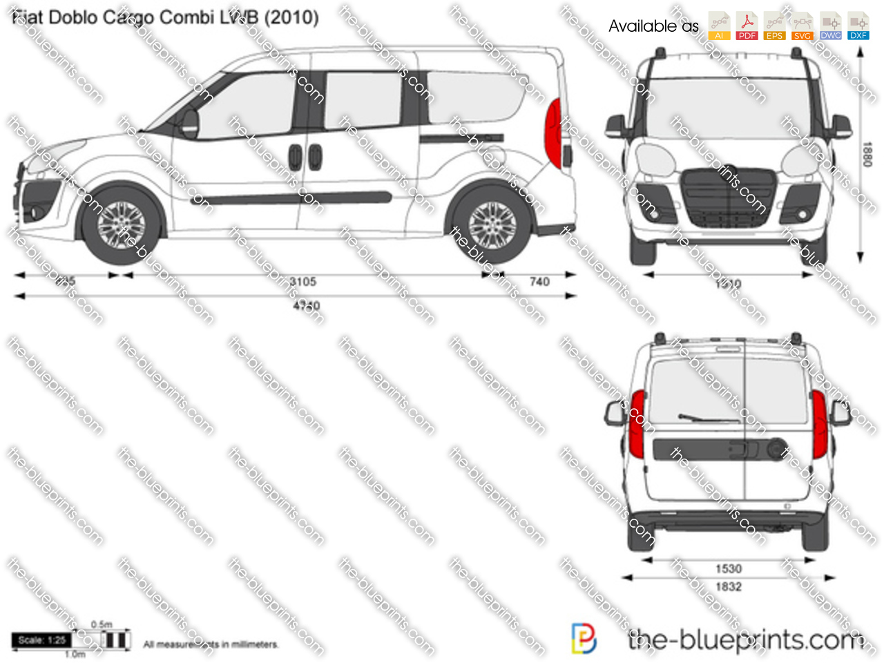 Fiat Doblo Cargo Combi LWB 2012