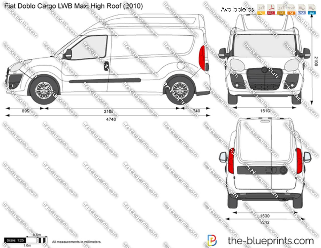 Fiat Doblo Cargo LWB Maxi High Roof