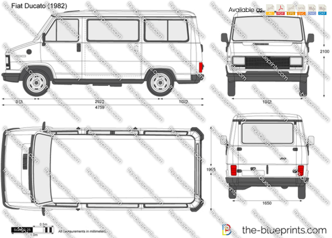the vector drawing fiat ducato. Black Bedroom Furniture Sets. Home Design Ideas