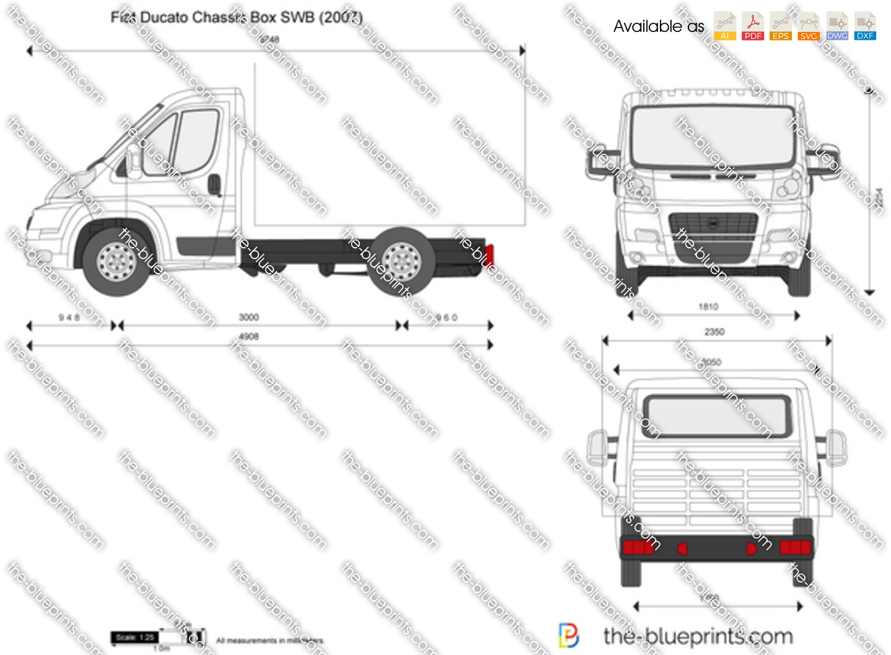the vector drawing fiat ducato chassis box swb. Black Bedroom Furniture Sets. Home Design Ideas