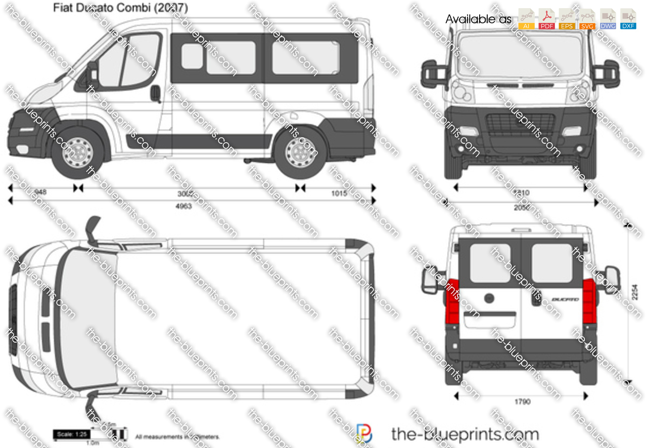 the vector drawing fiat ducato combi. Black Bedroom Furniture Sets. Home Design Ideas