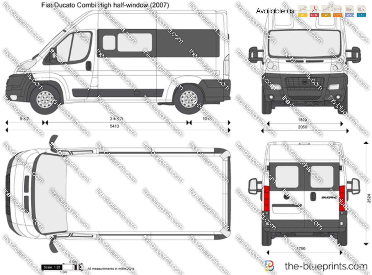 2014 Fiat Ducato Combi High half-window