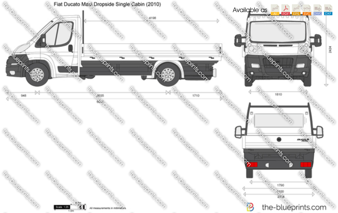Fiat Ducato Maxi Dropside Single Cabin