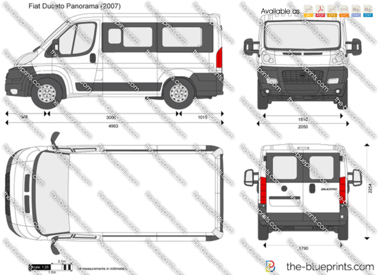the vector drawing fiat ducato panorama. Black Bedroom Furniture Sets. Home Design Ideas