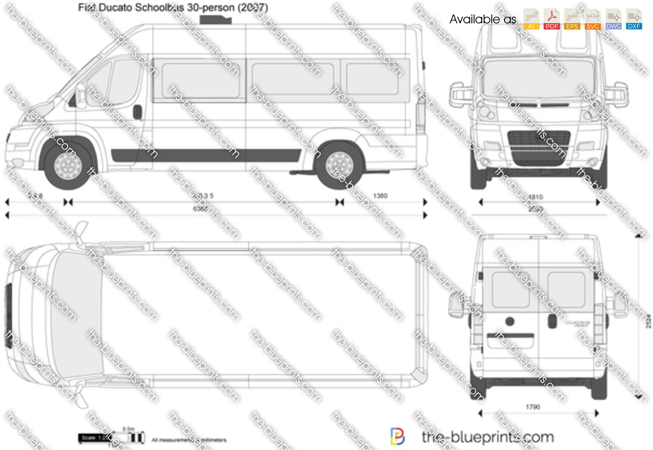 fiat ducato schoolbus 30 person vector drawing. Black Bedroom Furniture Sets. Home Design Ideas