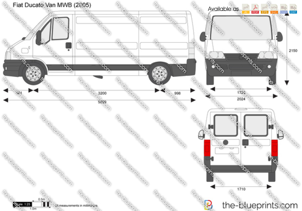 the vector drawing fiat ducato van mwb. Black Bedroom Furniture Sets. Home Design Ideas