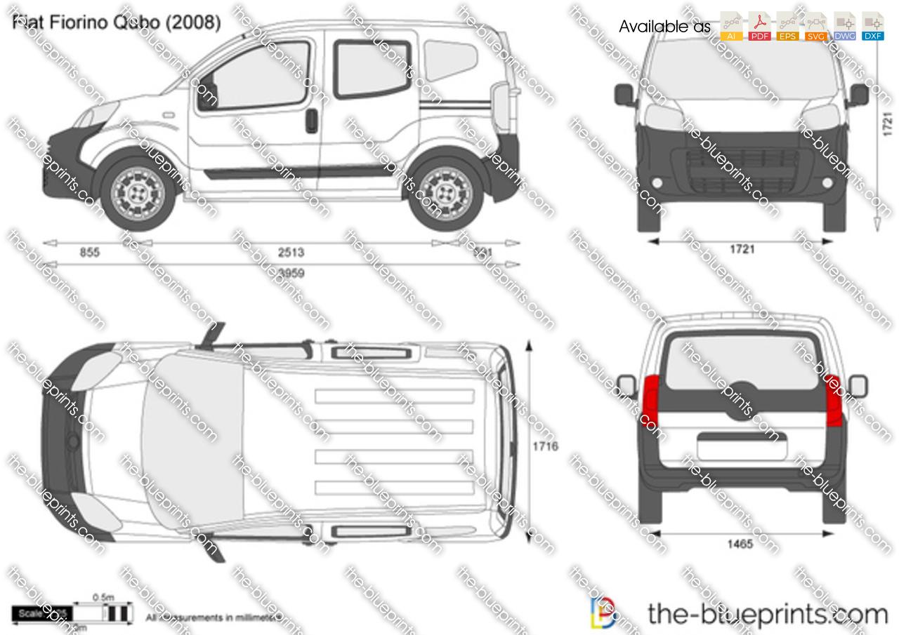 fiat fiorino qubo vector drawing. Black Bedroom Furniture Sets. Home Design Ideas