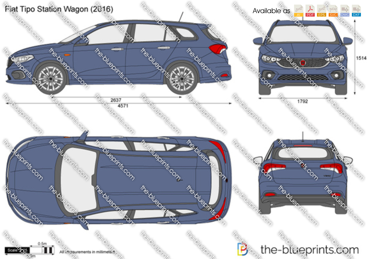 the vector drawing fiat tipo station wagon. Black Bedroom Furniture Sets. Home Design Ideas