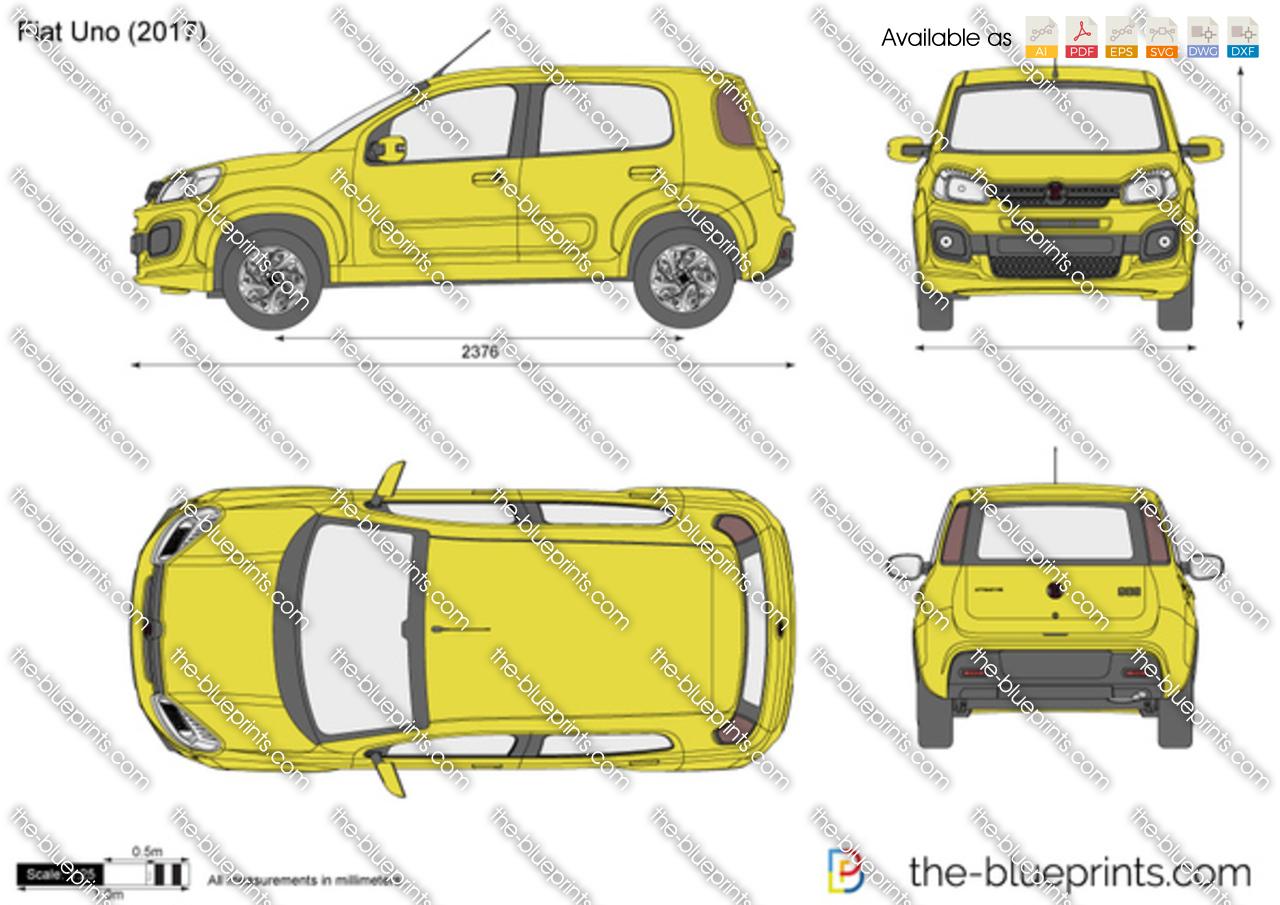 Fiat Uno Vector Drawing