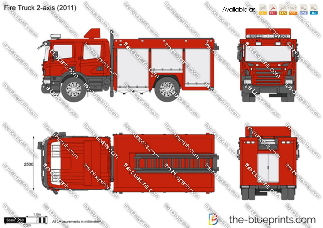 Fire Truck 2-axis