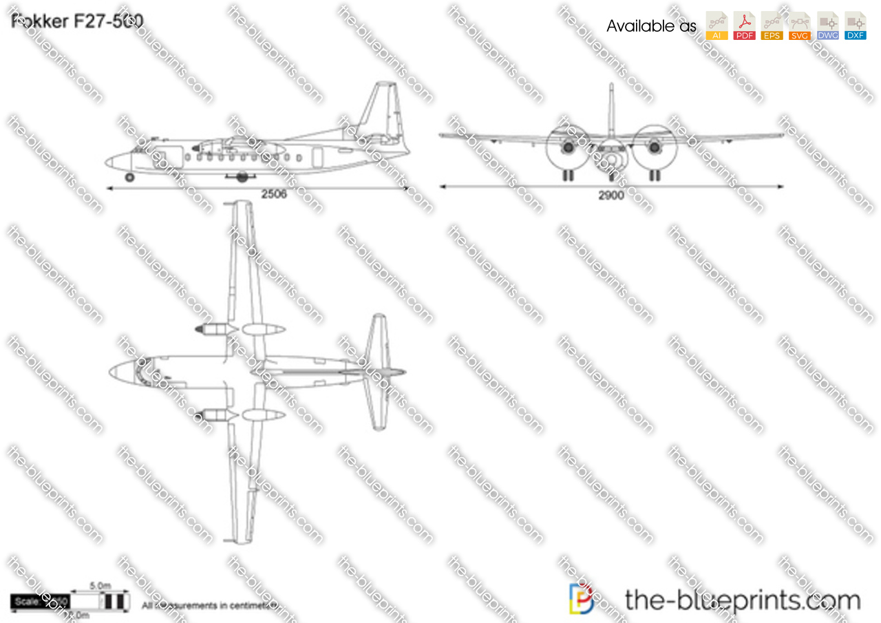 The Vector Drawing Fokker F27 500