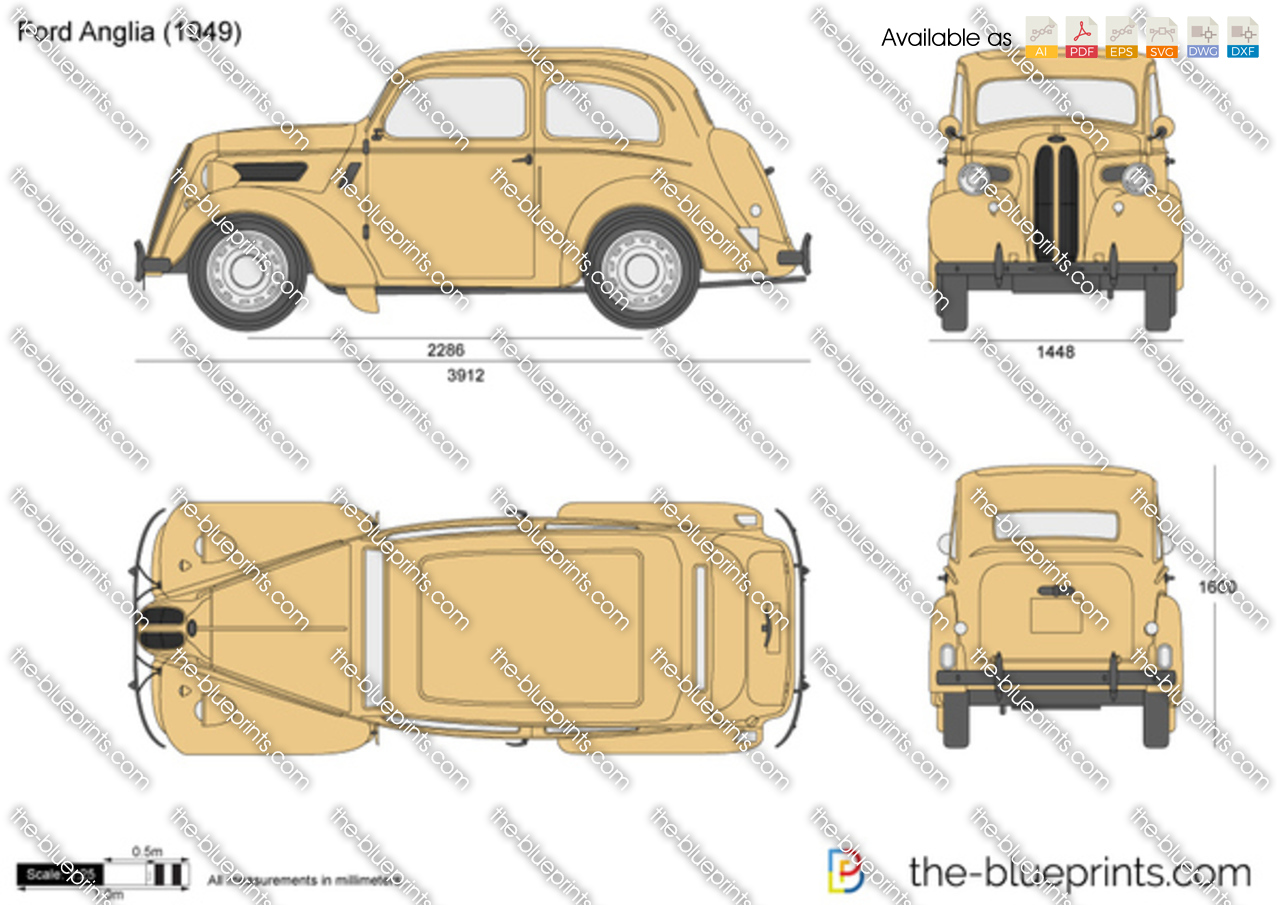 ford anglia vector drawing. Black Bedroom Furniture Sets. Home Design Ideas