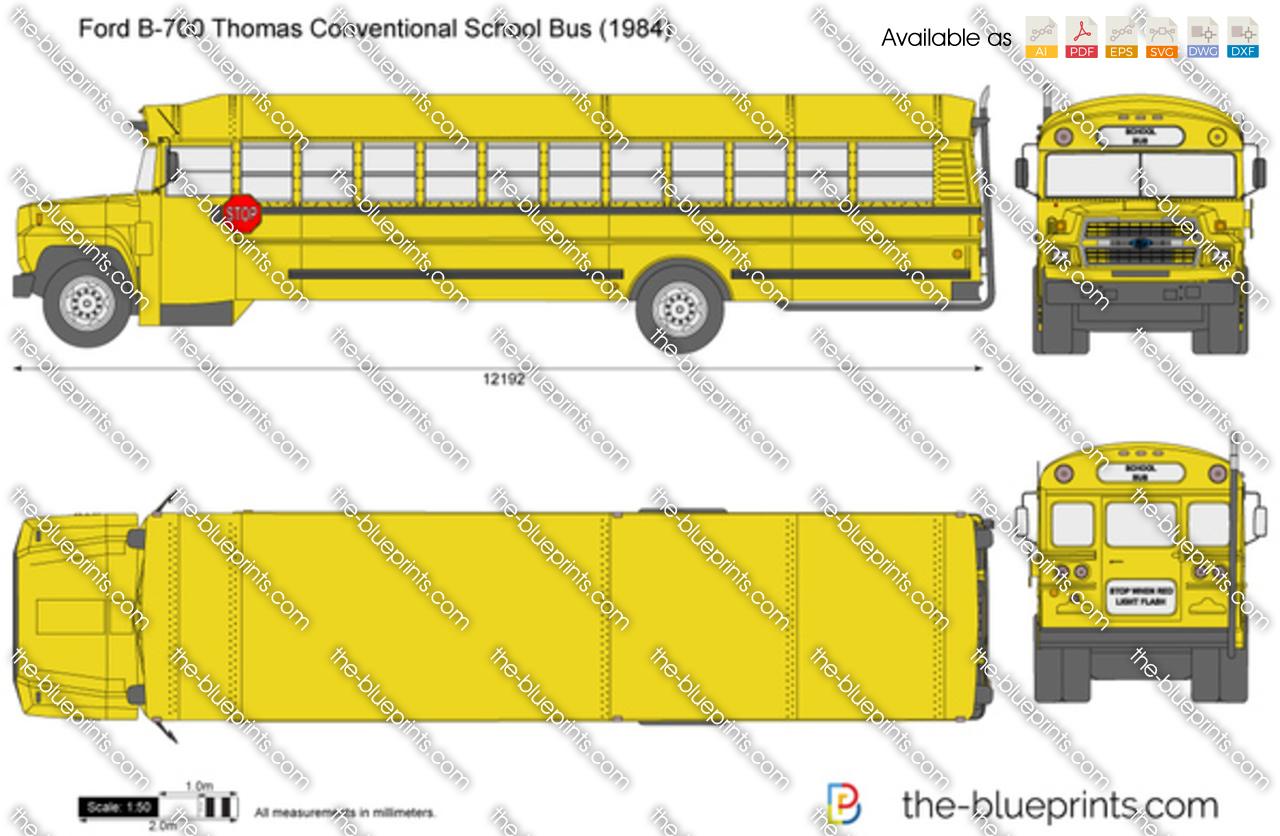Ford B-700 Thomas Conventional School Bus