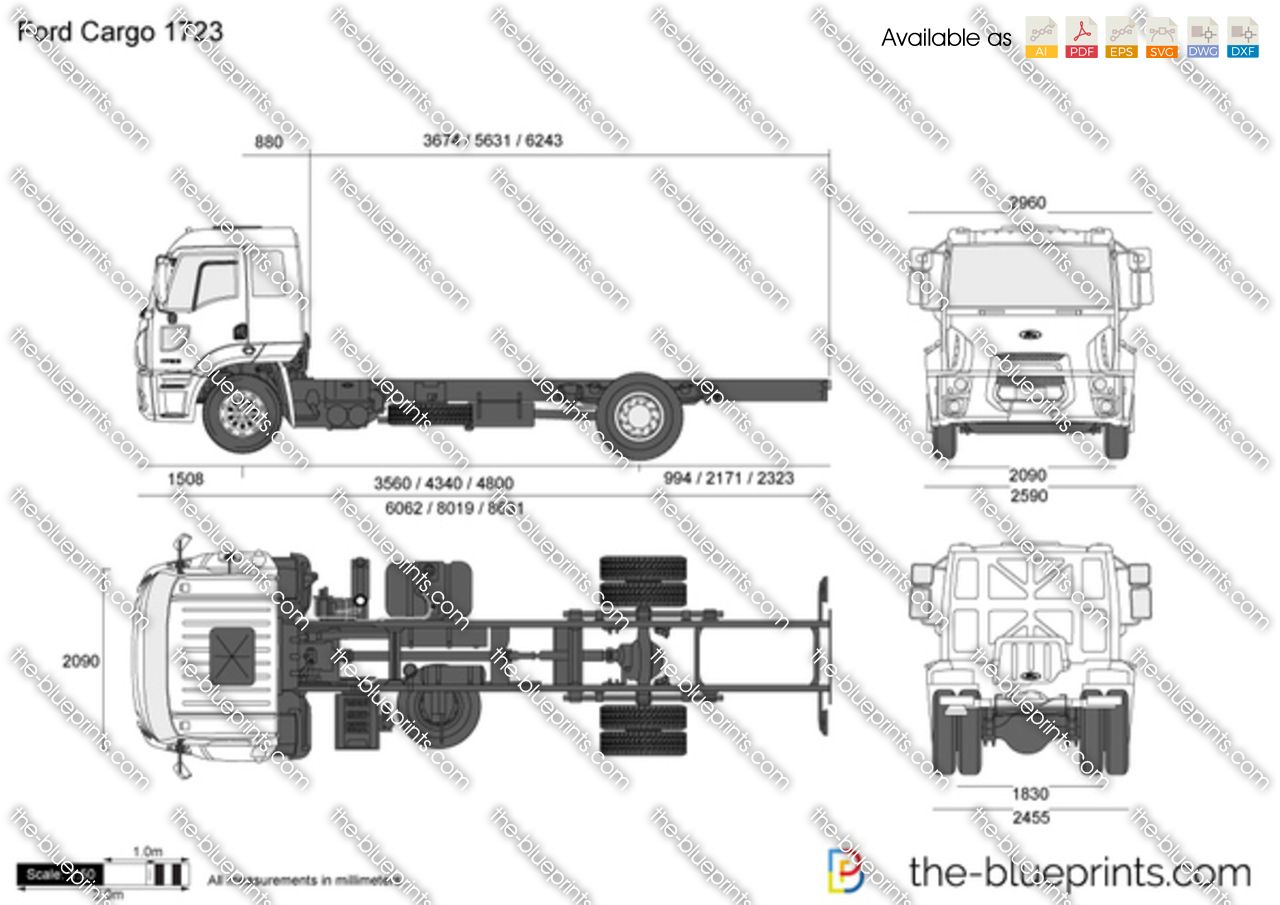 The vector drawing ford cargo 1723 for Ford motor credit application pdf