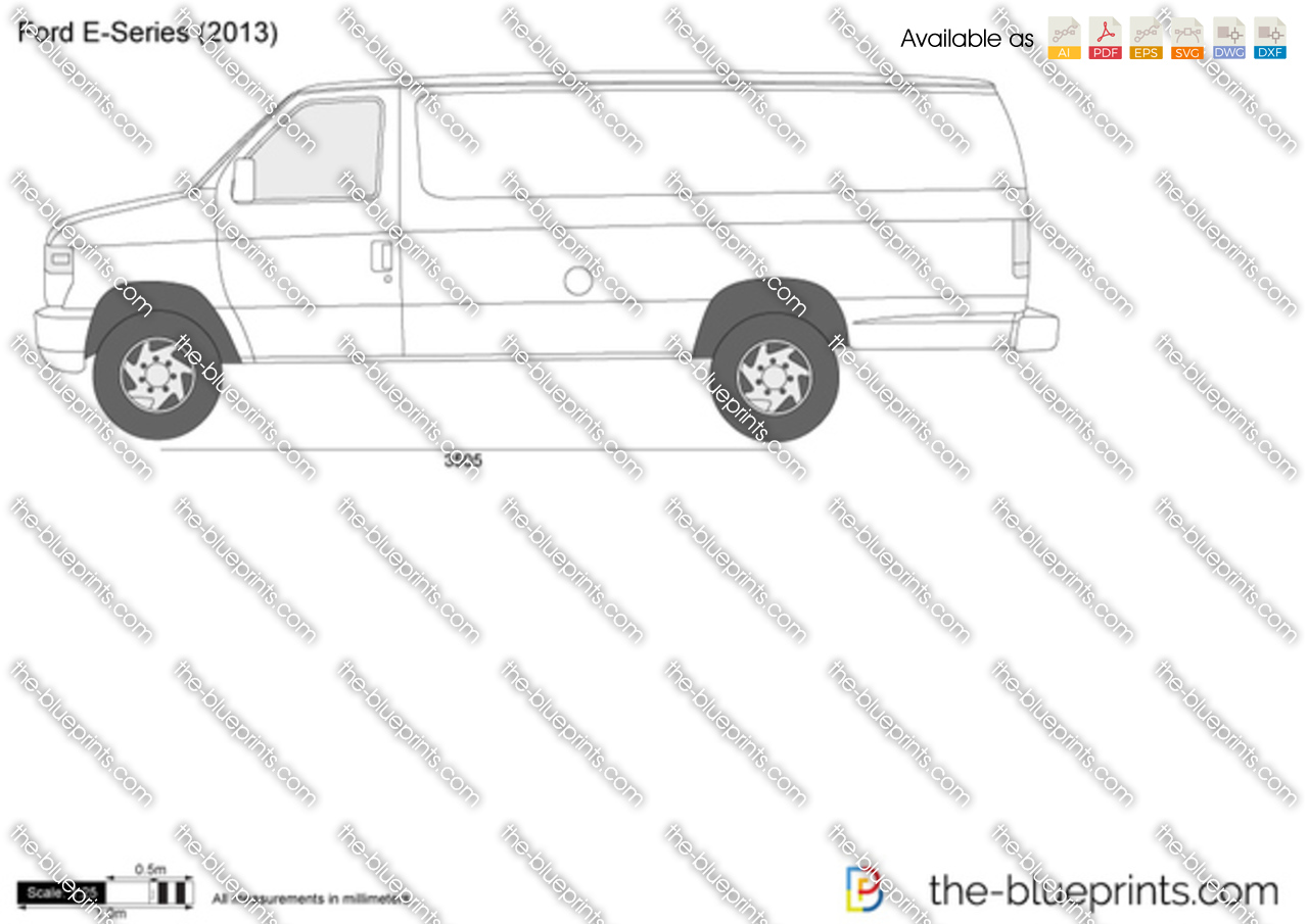 The Blueprints Com Vector Drawing Ford E Series E 350