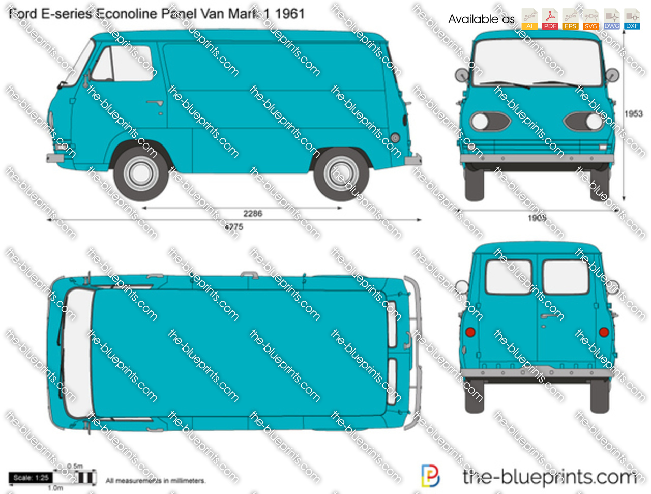 Ford E-series Econoline Panel Van Mark 1 1961