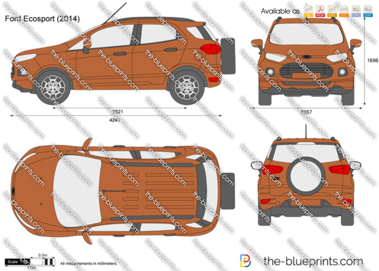 The Blueprints Com Vector Drawing Ford Ecosport