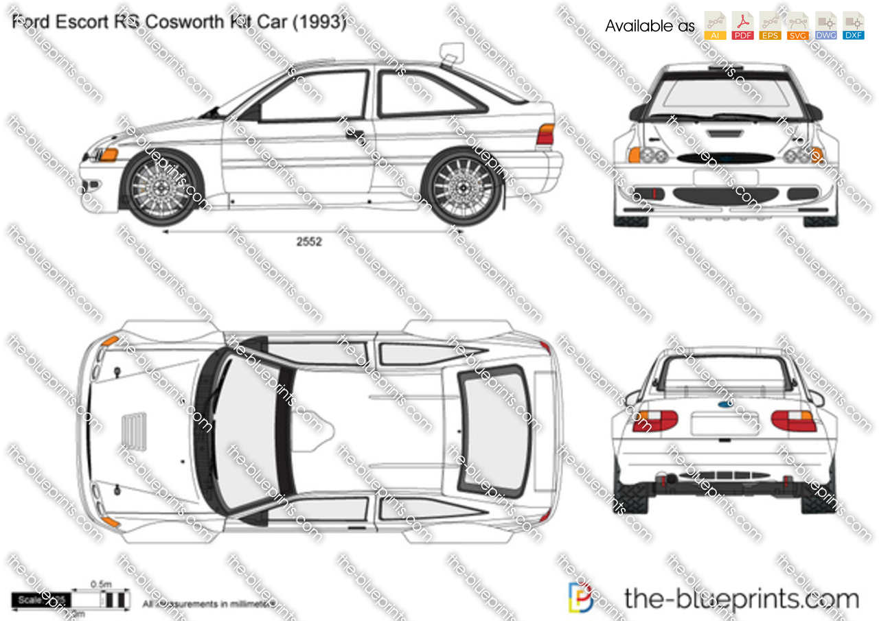 Ford Escort RS Cosworth Kit Car vector drawing