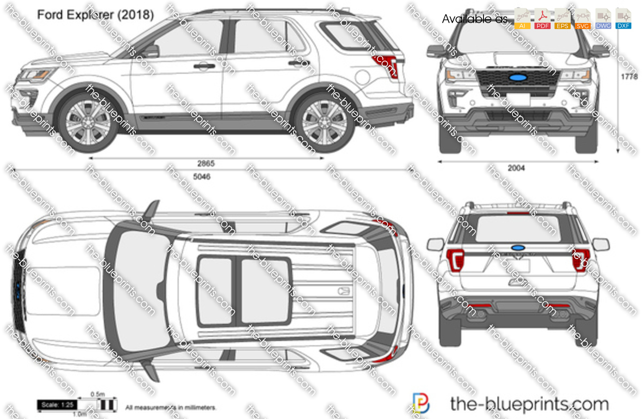 2015 Ford Explorer Color Chart >> Ford Explorer vector drawing