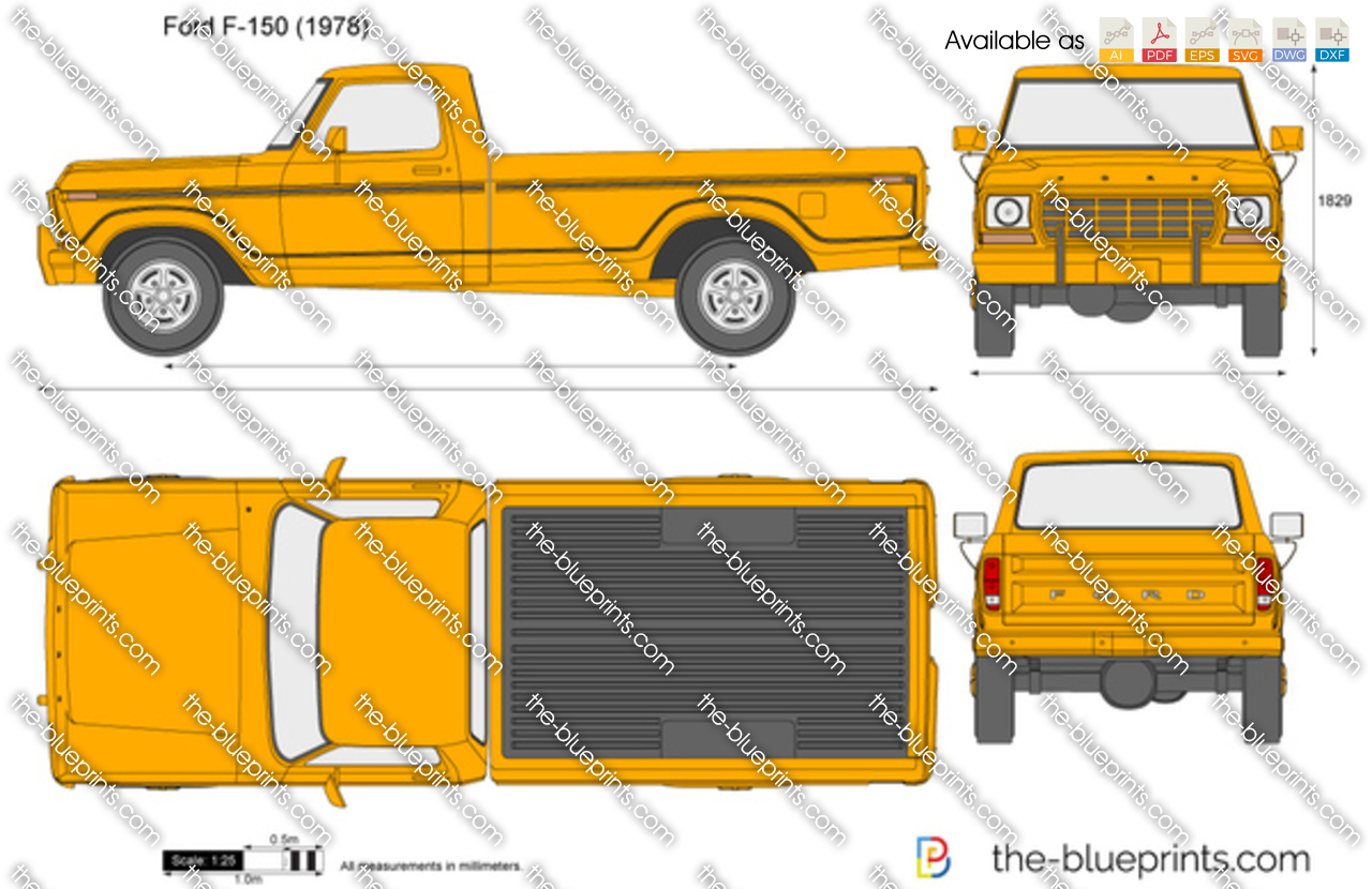 Ford F 150 Vector Drawing