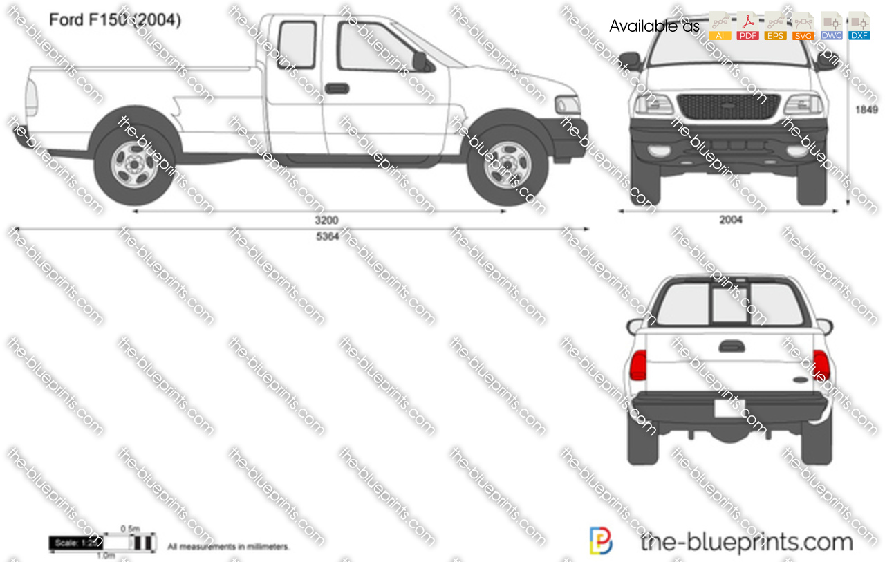 Ford F-150 vector drawing