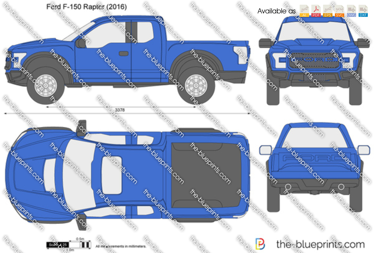 The-Blueprints.com - Vector Drawing - Ford F-150 Raptor