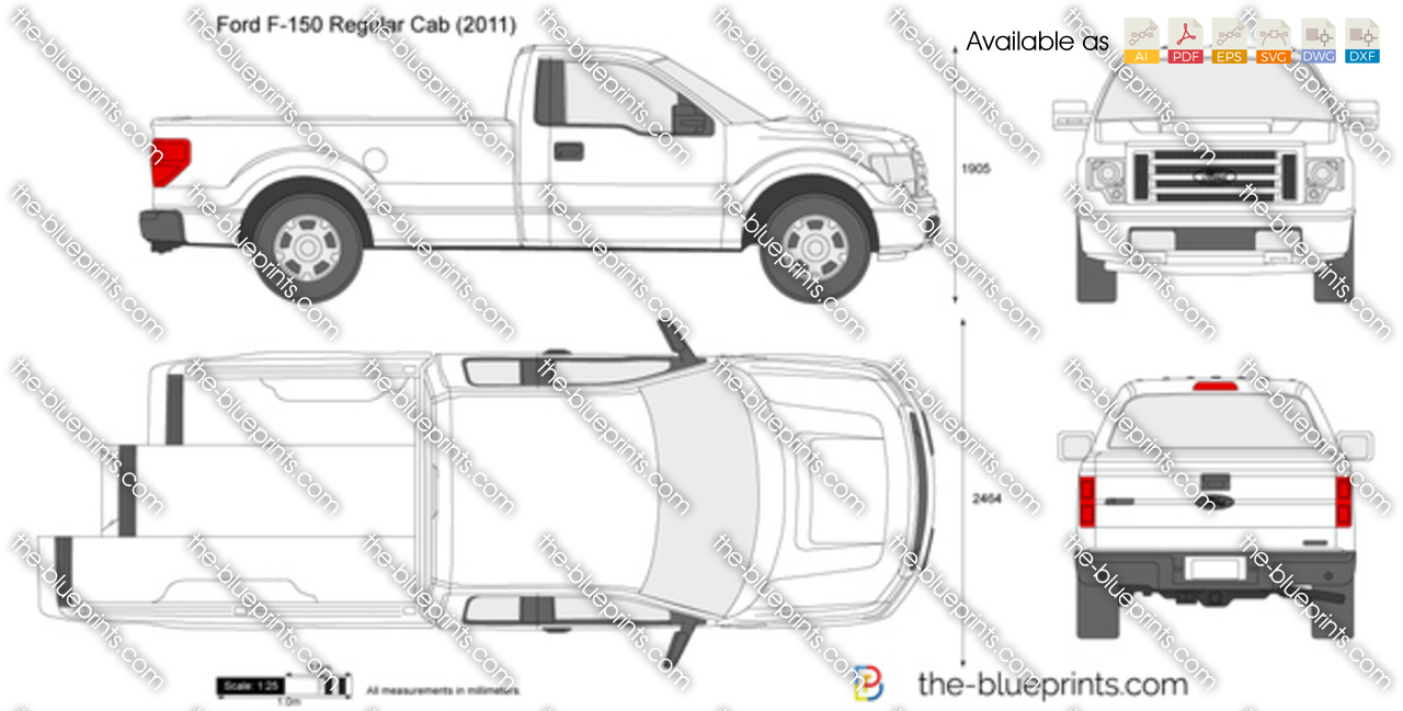 The Blueprints Com Vector Drawing Ford F 150 Regular Cab