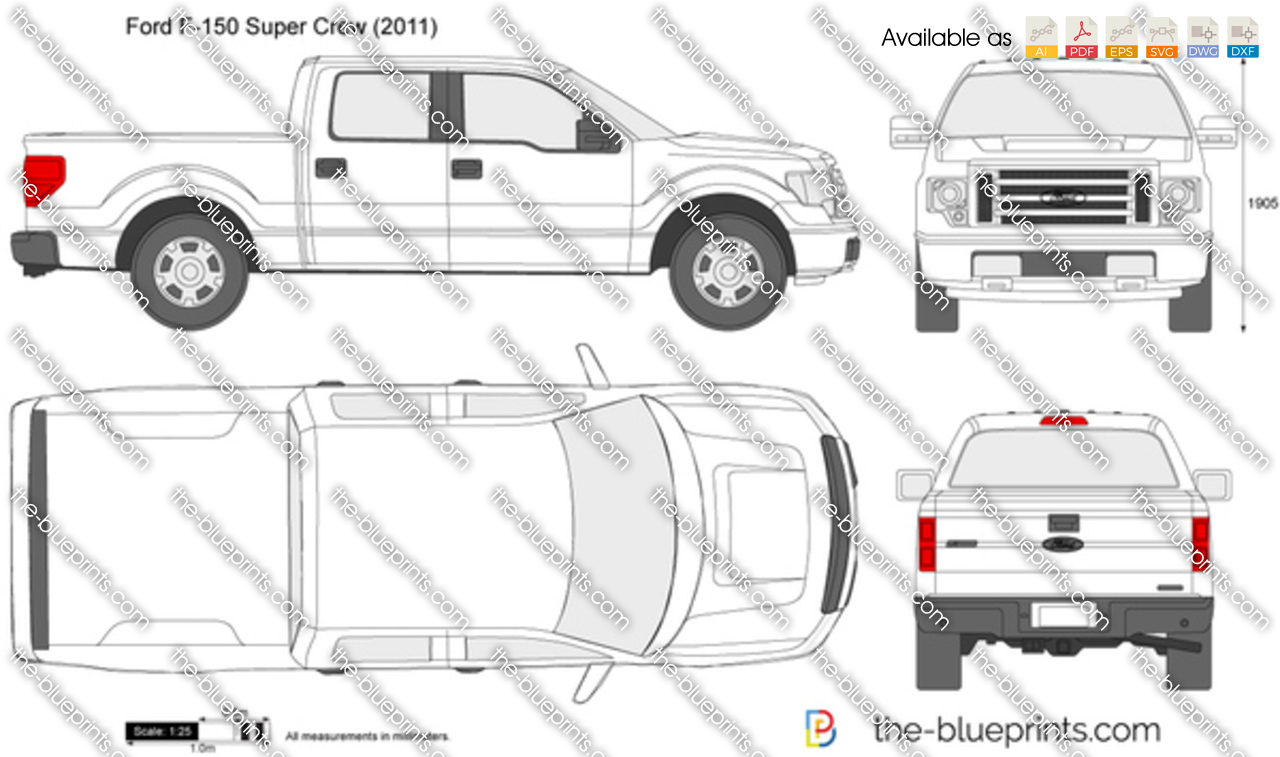 2015 Ford F 150 For Sale >> Ford F-150 Super Crew vector drawing