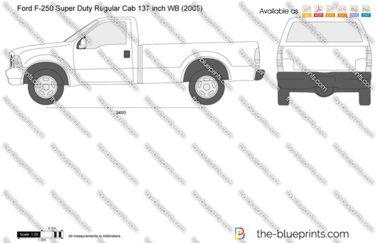 Ford F-250 Super Duty Regular Cab 137 inch WB
