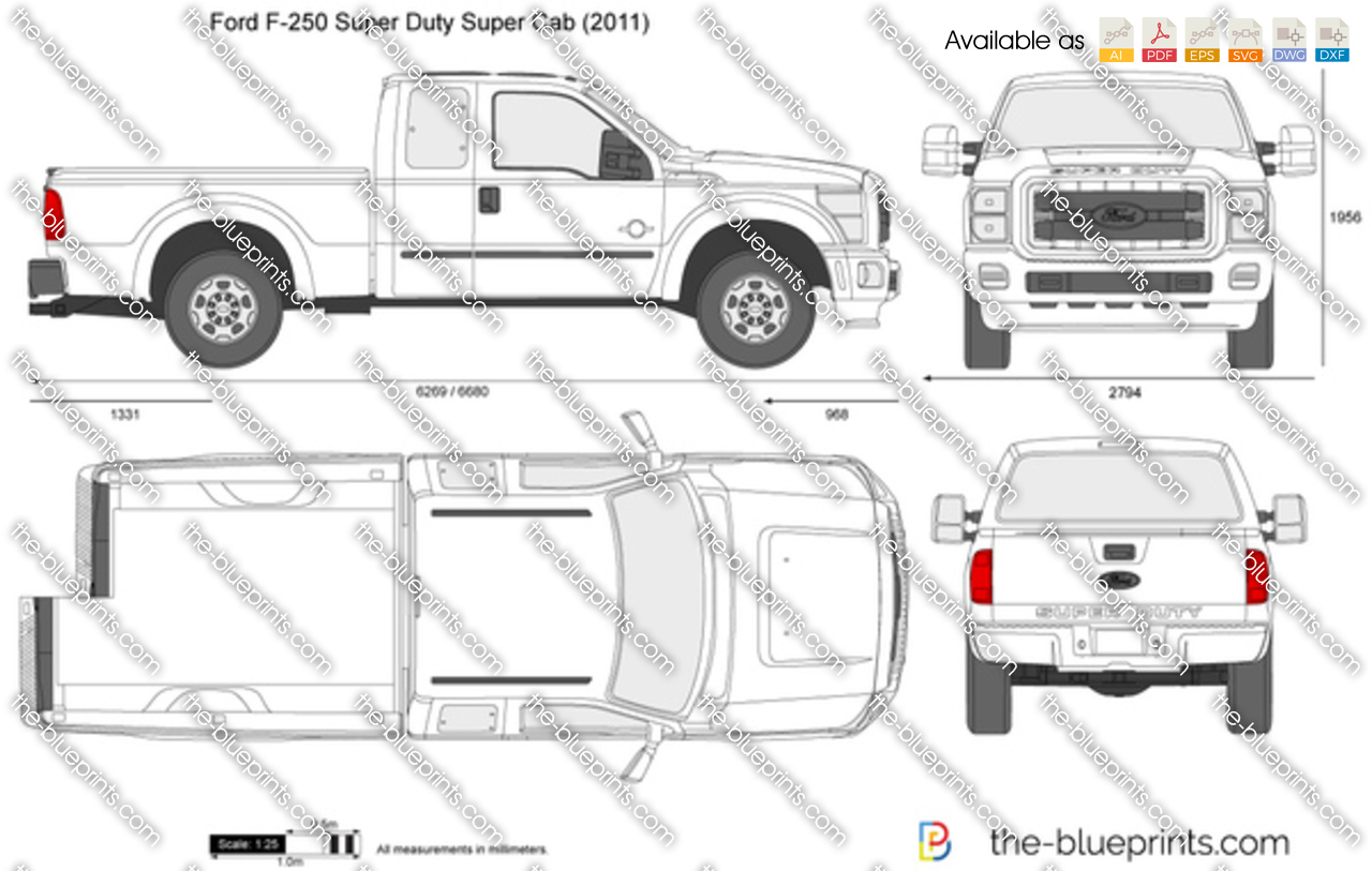 Ford F-250 Super Duty SuperCab SWB 142