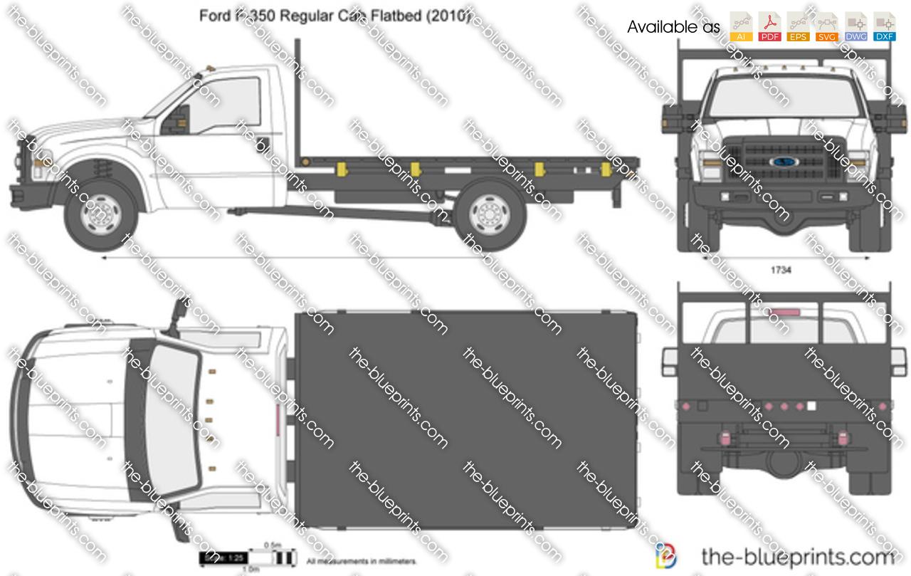 Ford F-350 Regular Cab Flatbed