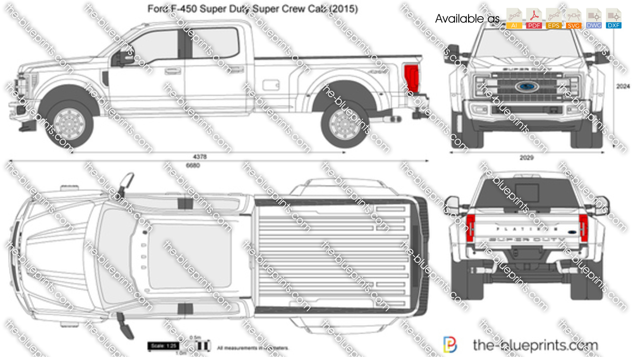 Ford F 450 Super Duty Super Crew Cab Vector Drawing