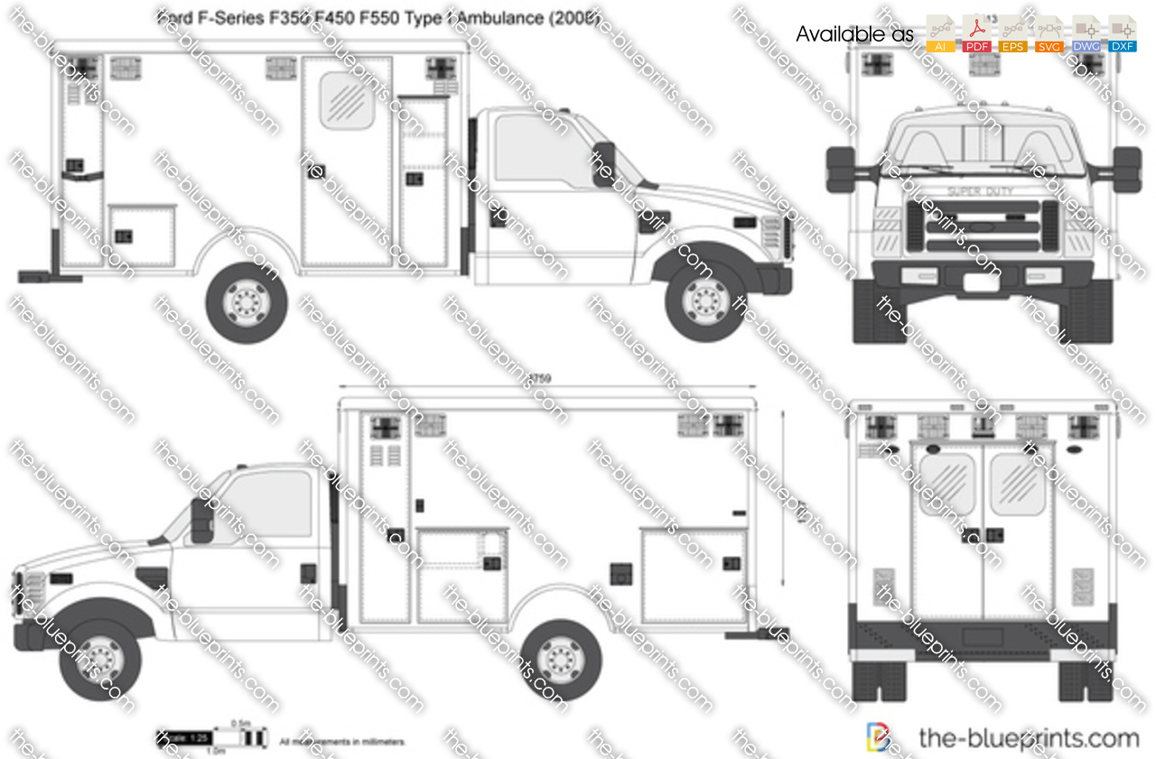 ford ambulance drawing
