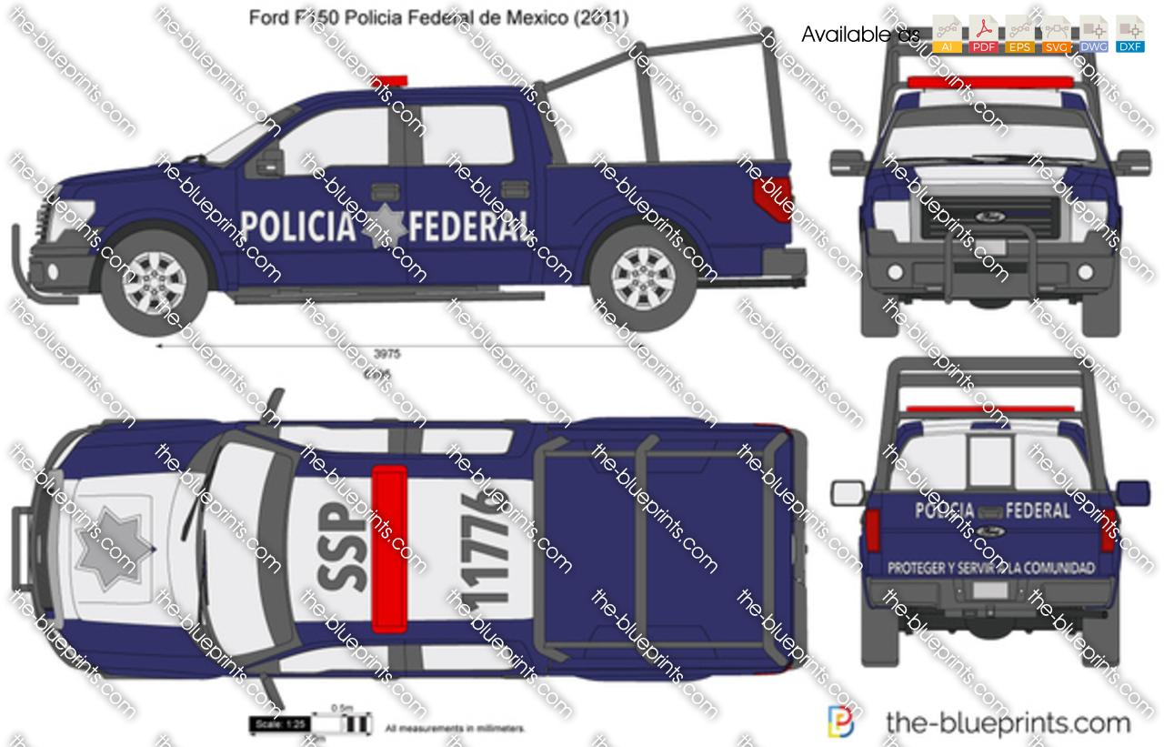 Ford F150 Policia Federal de Mexico
