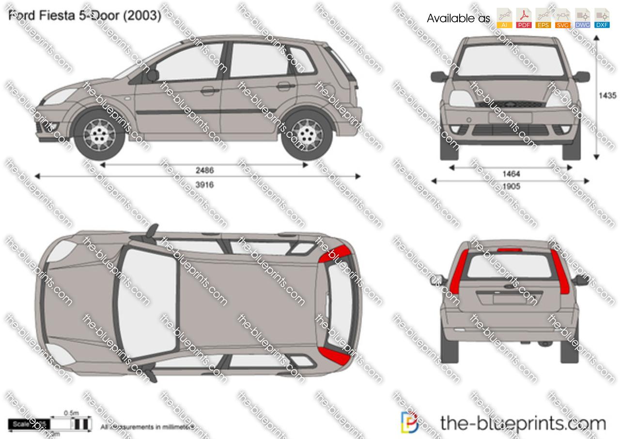 Range Rover Golf Cart >> Ford Fiesta 5-Door vector drawing