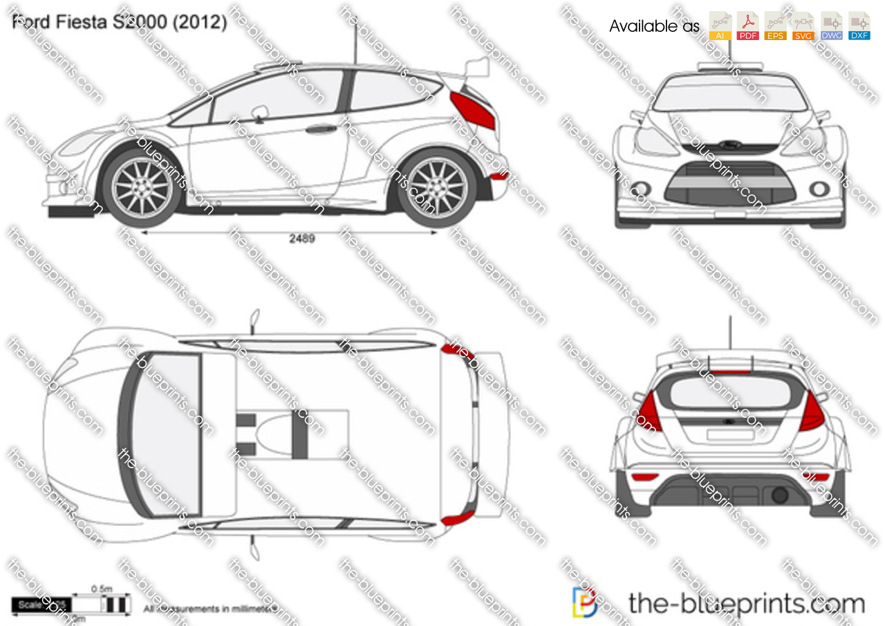 Ford Transit Wagon >> The-Blueprints.com - Vector Drawing - Ford Fiesta S2000