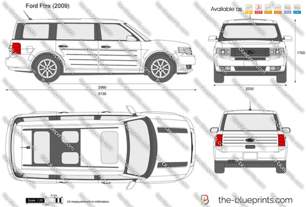 The Blueprints Com Vector Drawing Ford Flex